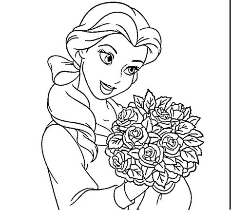 belle coloring pages free printable princess belle coloring pages az coloring pages