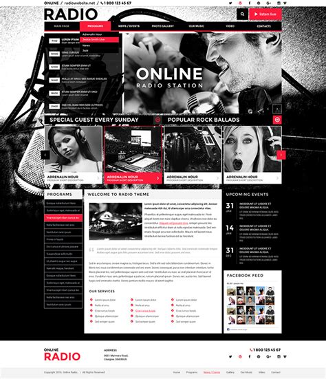 bw radio wordpress template id 300111892