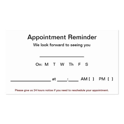 Medical Appointment Cards Business Card Templates Bizcardstudio Dental Appointment Reminder Templates