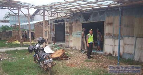 Oven Juta gudang oven tapioka di sidomukti pati terbakar kerugian