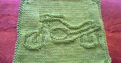 umbrella dishcloth pattern hand knit grass green motorcycle picture dishcloth or