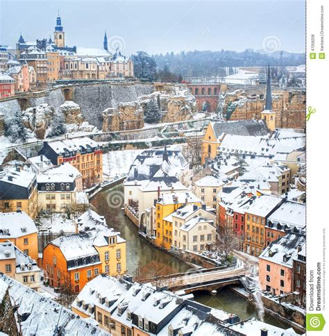 Historical House Plans by Luxembourg Downtown Stock Photo Image 47058208