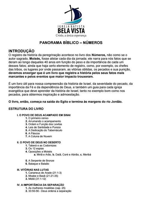 PANORAMA BÍBLICO - NÚMEROS by Hugo Zica - Issuu