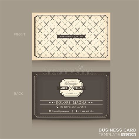 Classic Business Cards Templates by Classic Business Card Design Template Stock Vector