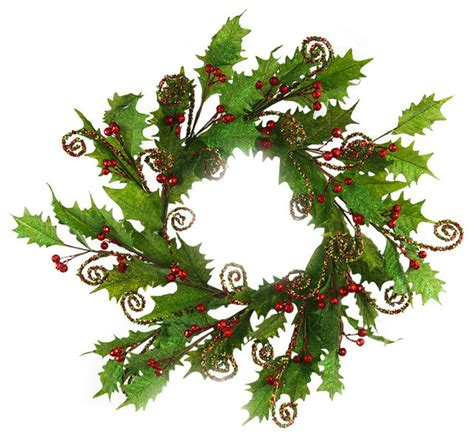 artificial holly wreath rustic wreaths and garlands