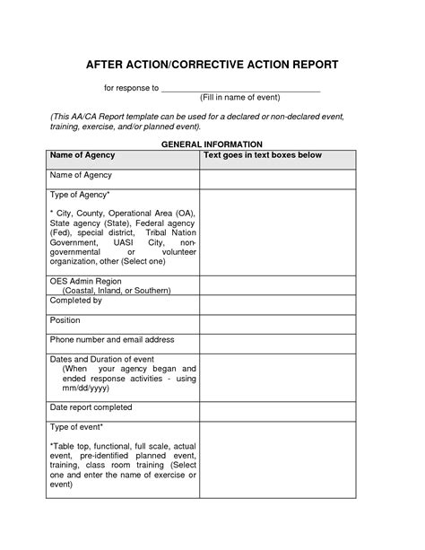 after action report template e commercewordpress