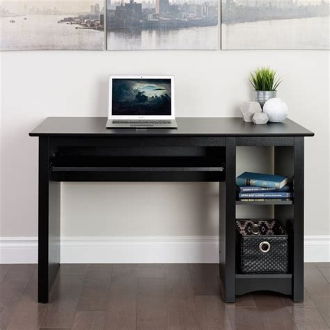small wood laminate computer desk in black bdd 2948