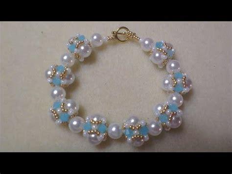 como hacer pulseras con perlas como hacer tejido de perla y cristal para pulseras pekas