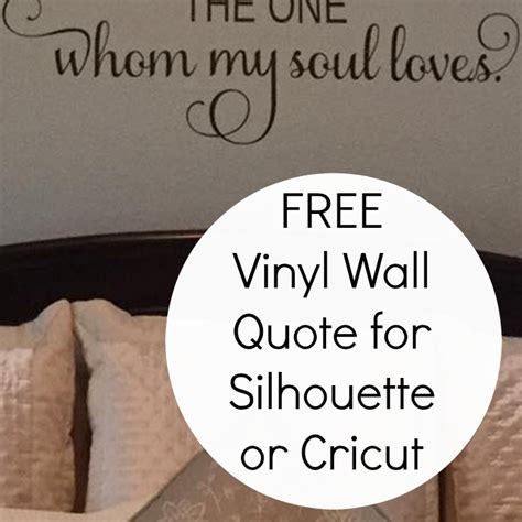 Which Cricut Can Cut Vinyl - free commercial use vinyl wall cut file for silhouette or