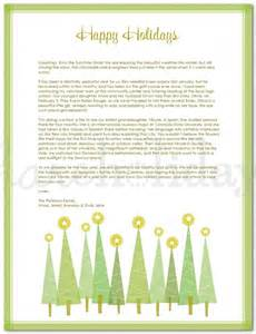 22 holiday letter template free sample example format