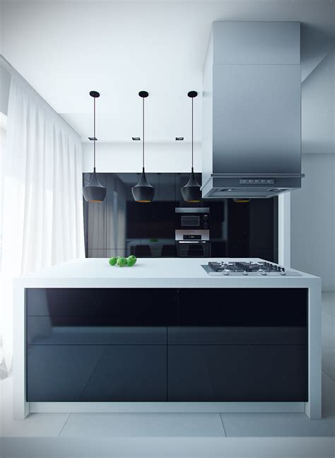 Black Kitchen Lights 12 Modern Eat In Kitchen Designs