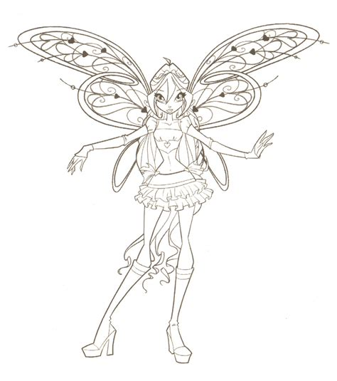 winxclub winx club coloring pages