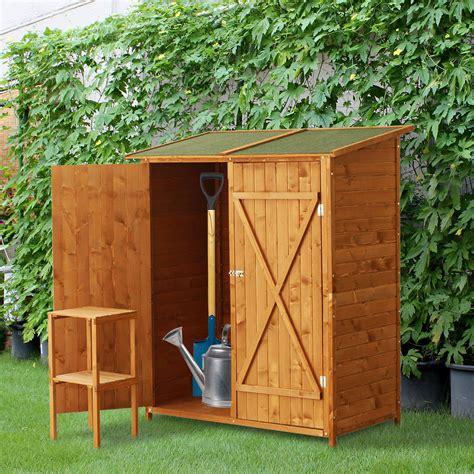 ripostiglio in legno da giardino outsunny casetta armadio box da giardino ripostiglio