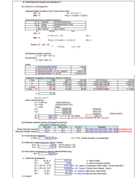 Concrete Column Design Spreadsheet by Engineer S Standpoint Reinforced Concrete Design