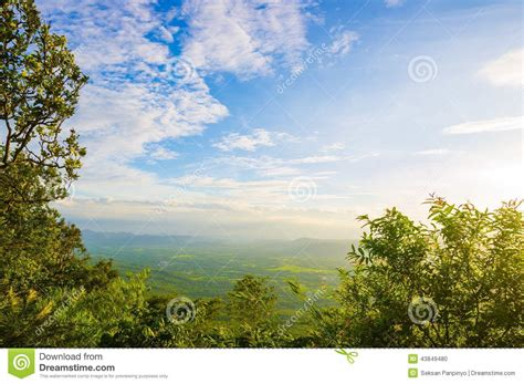 blue sky landscaping landscape of blue sky with cloud stock photo image 43849480