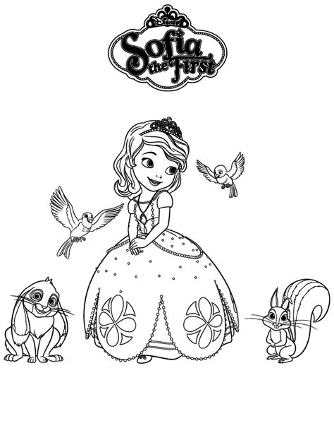 Sofia The First And Friends Coloring Page Places To Princess Sofia Drawing Free Coloring Sheets