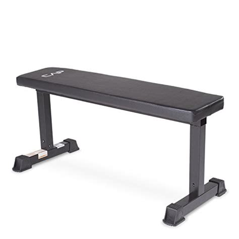 cap bench cap barbell flat weight bench black
