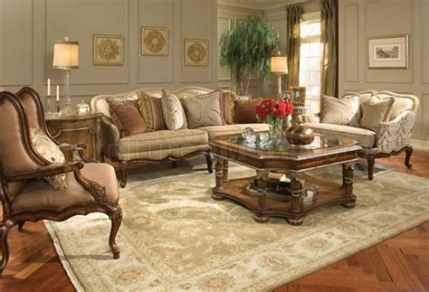 Classic Cherry Wood Finish Living Room Sofa W Hand Carved Cherry Wood Living Room Furniture