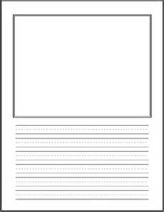 Kindergarten Writing Paper With Picture Box Homeschool Days Printables
