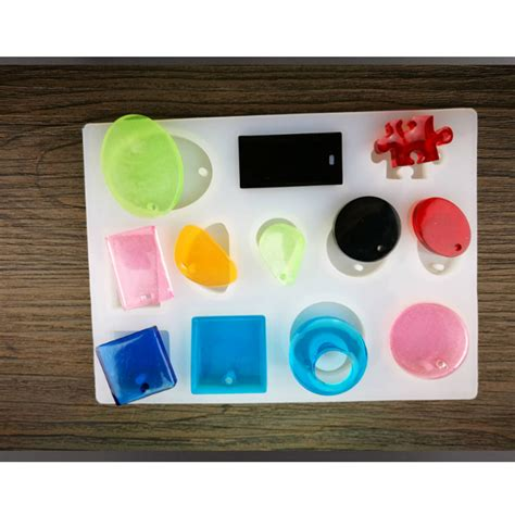 Diy Handcrafts - 12 shapes silicon mold mould for epoxy resin jewelry