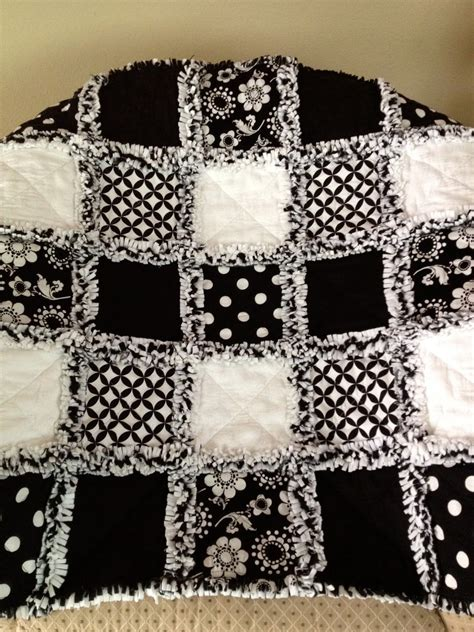 black and white quilts zeedlebeez black and white rag quilts