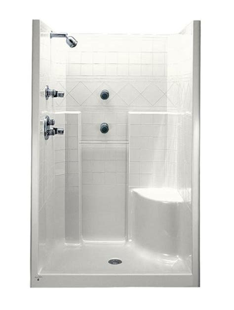 Bathroom Ideas With Shower Curtain by Marvelous Tips To Install Corner Shower Stall With Seat