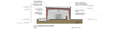 Constructing A Cross Section by Olive Factory Storage Warehouse Go Design Archinect