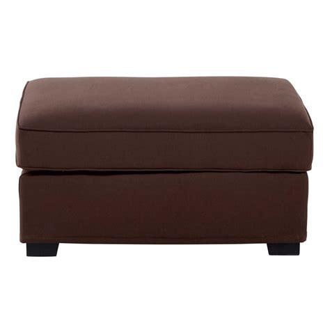 pouf canape pouf de canap 233 modulable en coton marron chocolat