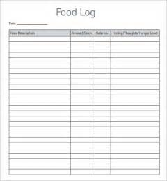 food templates food log template 14 free documents in pdf