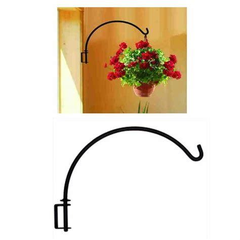 How To Hang Curtains by Wall Mount Swivel Iron Plant Hanger