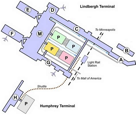 msp map minneapolis airport map map2