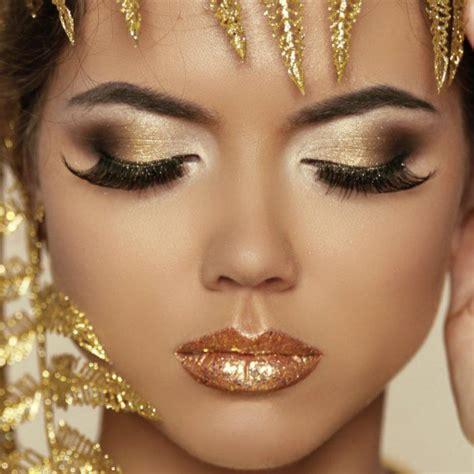 imagenes de ojos fantasia 17 mejores ideas sobre maquillaje dorado de los ojos en