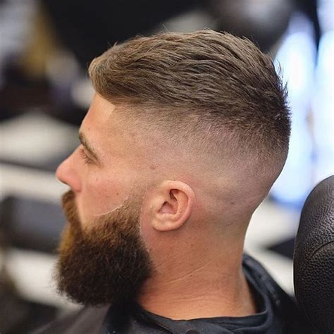 High Skin Fade With Beard | high skin fade textured top beard lined through barber