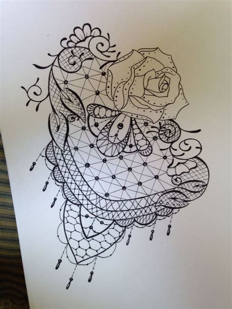 lace design tattoo lace design beautiful design lace