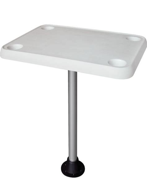 Pontoon Boat Table by Rectangular Pontoon Boat Table