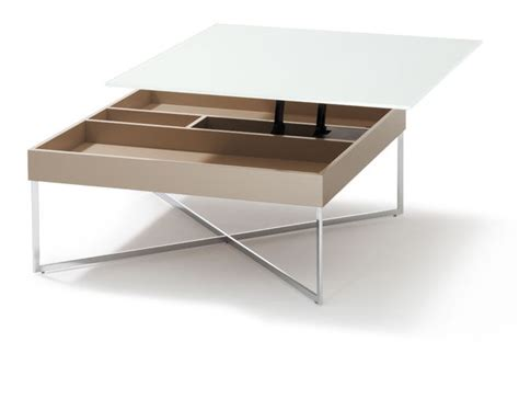 coffee table with storage glass top