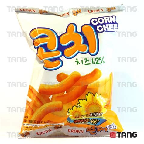 Crown Corn Cheese Korean Snacks Tang The Asian Food Emporium