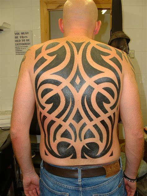 full back tattoos for men ideas 50 tribal tattoos for inspirationseek