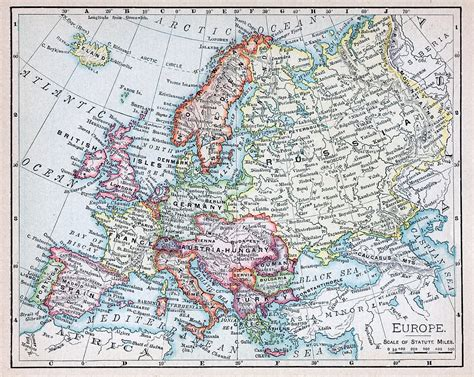 the nineteenth century europe nineteenth century map of europe photograph by russell shively