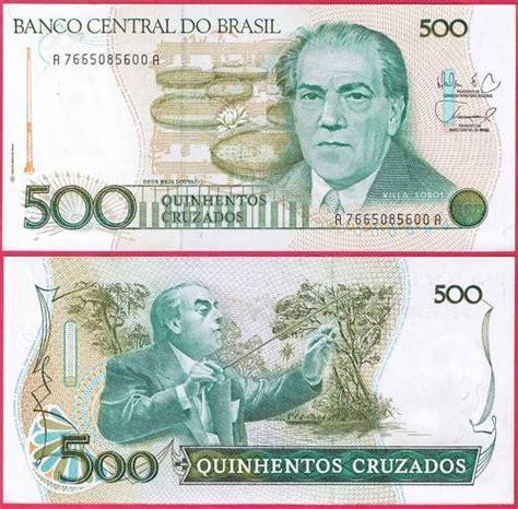 Brasil 500 Cruzados Unc 500 cruzados brazil 1986 88 unc eurocollection