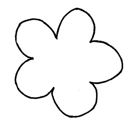 simple flower template clipart best