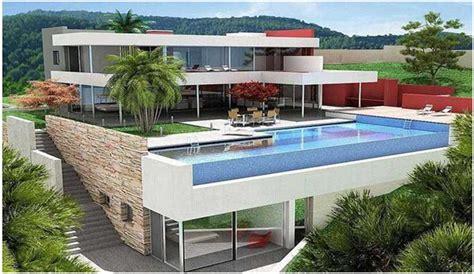 desain rumah mewah  lantai  kolam renang istimewa desain rumah unik