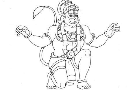 simple hanuman coloring coloring coloring pages