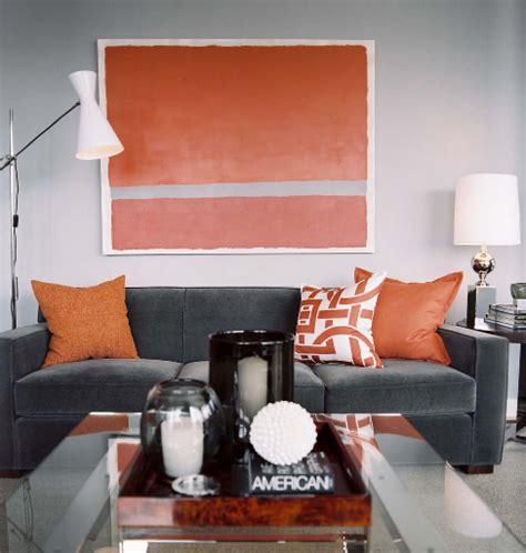 Grey White Orange Living Room by Gray And Orange Room Living Room Marvin