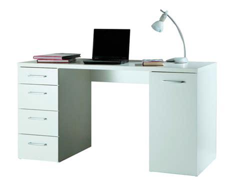 bureau des 駘钁es bureau 1 porte et 4 tiroirs consuelo blanc