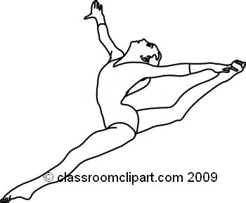 Drawing Of A Doing The Splits by Sports Clipart 01 05 09 1rabw Classroom Clipart