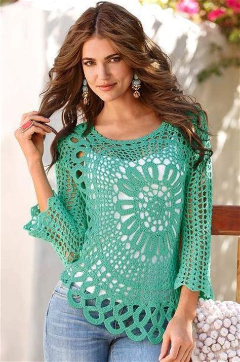 Blouse Knit 688 how to make a wonderful crochet blouse with a circle