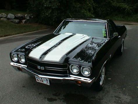 The Black Camino by Chevrolet El Camino Ss Black W White Stripes 1970
