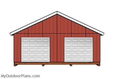 24 X 24 Shed by 24x24 Shed Plans Myoutdoorplans Free Woodworking Plans