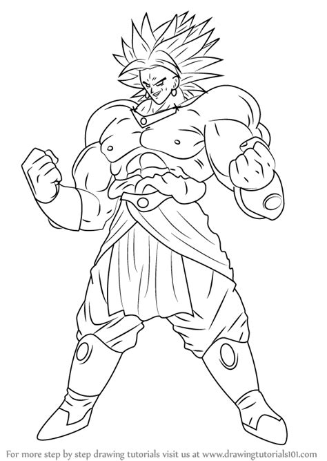 Z Drawing Images by Learn How To Draw Broly From Z Z